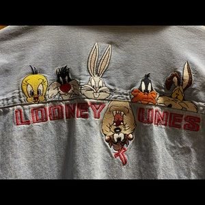 Looney Tunes WB Embroidered Button Up L/S Shirt